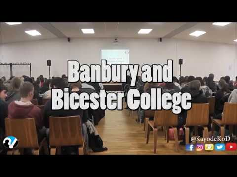 Banbury and Bicester College Talk
