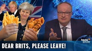 "Brexit: Dear Brits, please LEAVE ALREADY! German political comedy ""heute show"" (English subtitles)"