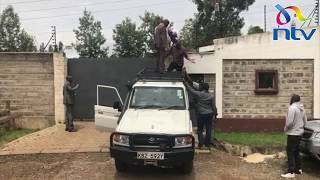 Drama as DCI officers jump over Echesa's gate to gain access to premises