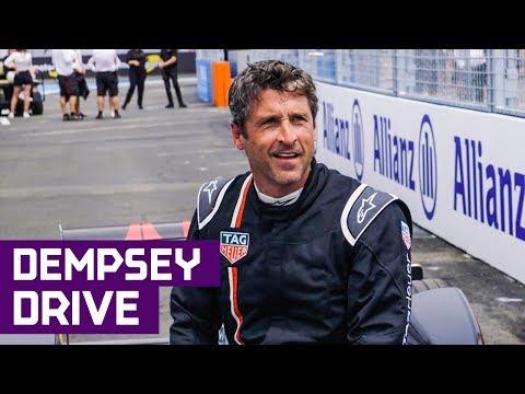 Patrick Dempsey Drives Formula E Car In New York City Abb Fia