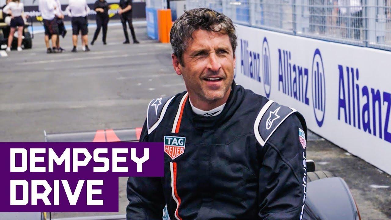 Patrick Dempsey Drives Formula E Car In New York City Abb Fia Formula E Championship