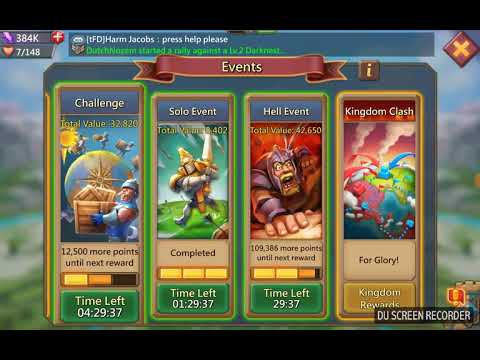 Lords Mobile - Watcher Building Hell Event, 1st Of The World!