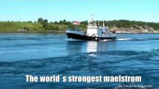 The World`s strongest Maelstrom (Saltstraumen) in Bodø Norway