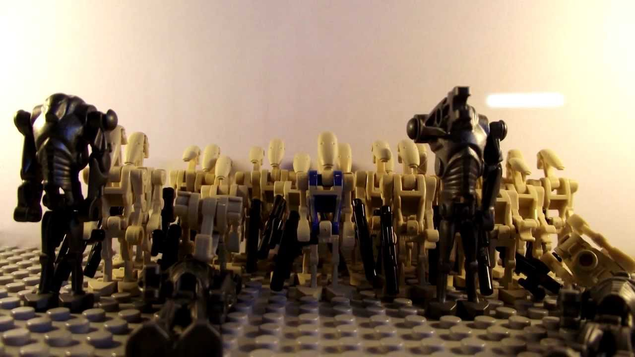 Lego star wars clone troopers vs droids lego stop motion contest entry youtube - Lego star wars base droide ...