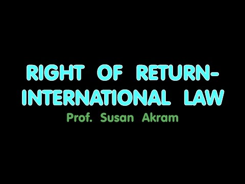 RIGHT of RETURN, Susan Akram,  Q & A Pt 4
