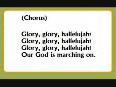 Longer Christianized Sing Along of Glory, Glory, Hallelujah Full Mix