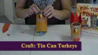 Crafty Creations #23: Tin Can & Paper Cup Turkey Crafts