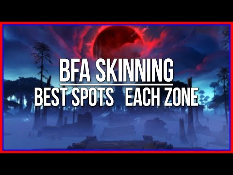 BFA SKINNING | Best Farming Spot in Each Zone | Coarse Leather