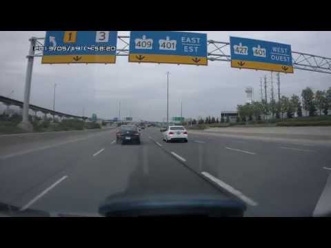 Driving from Toronto Pearson Airport Terminal 3 Parking to Highway 427