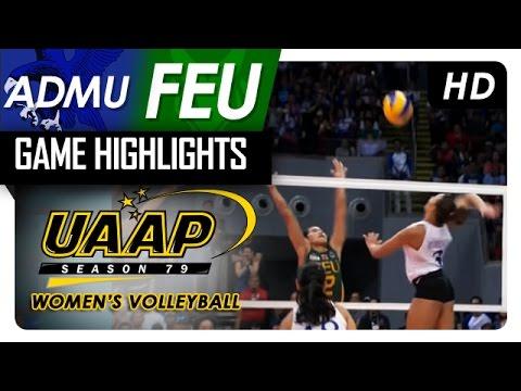 Final Four: ADMU   vs FEU | Game Highlights | UAAP 79 WV | April 23, 2017