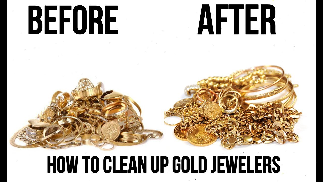 How To Clean Gold Jewelry At Home For 1 Minute!!!
