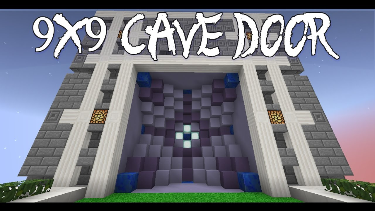 Epic 9x9 Cave Door: Seamless Beauty! (ft. Lucasdaredstone) | Minecraft 1.11  | +Uma