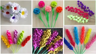 Best 6 Beautiful Paper Flower Making | DIY | Paper Crafts | Home Decor Ideas | Paper Flower