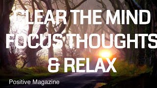 Guided Meditation To Help Clear the mind focus thoughts
