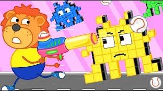 Lion Family Arcade Game #6. Cartoon For Kids