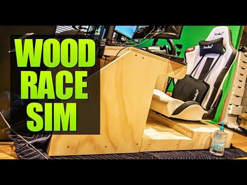 Cheap Wood Race Sim DIY Build (feat. Papa Bunyun) - Project WOOP