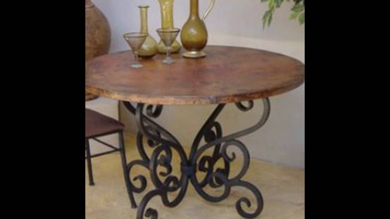 Solid Wood Raw Iron Rustic Console Table