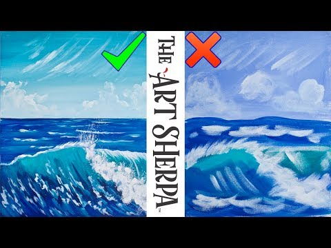 Realistic Wave  Dos and Don'ts How to paint with acrylics better for beginning Artists 🌊