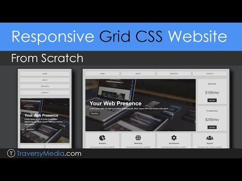 Build a Responsive Grid CSS Website Layout From Scratch