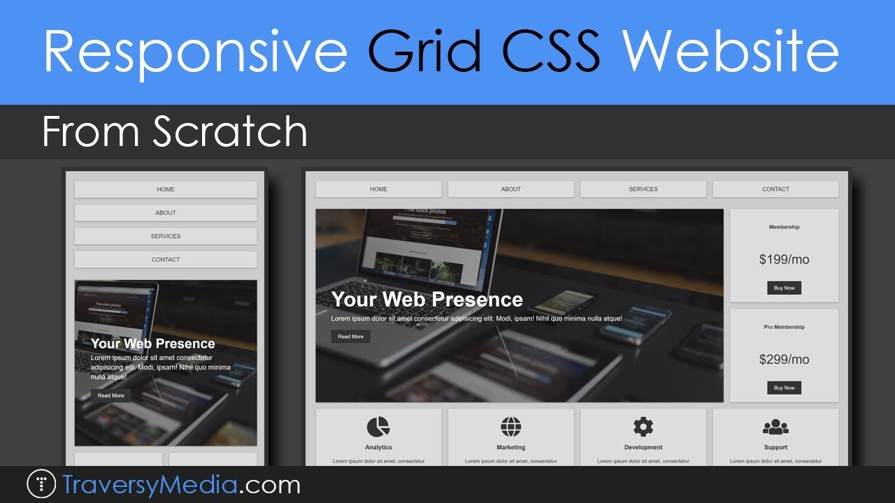 Build A Responsive Grid Css Website Layout From Scratch Youtube
