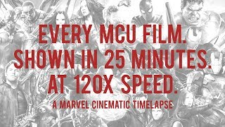 The Marvel Cinematic Time-Lapse & Medley: 19 films, 40 hours, shown in 25 minutes.