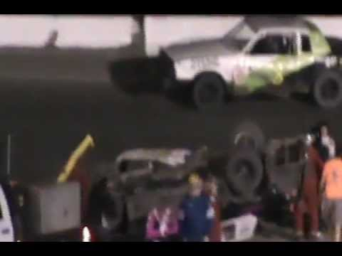 South Texas Speedway Pure Stock Double Flip Bad Racing Wreck