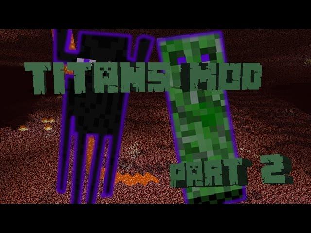 Minecraft | Titans Mod Review | CRAZY ENDER AND CREEPER TITANS!