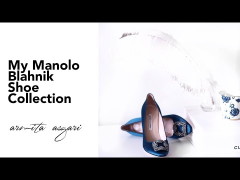 My Manolo Blahnik Shoe Collection 2017   My First Manolos   Designer Shoe Collection   Chatty intro