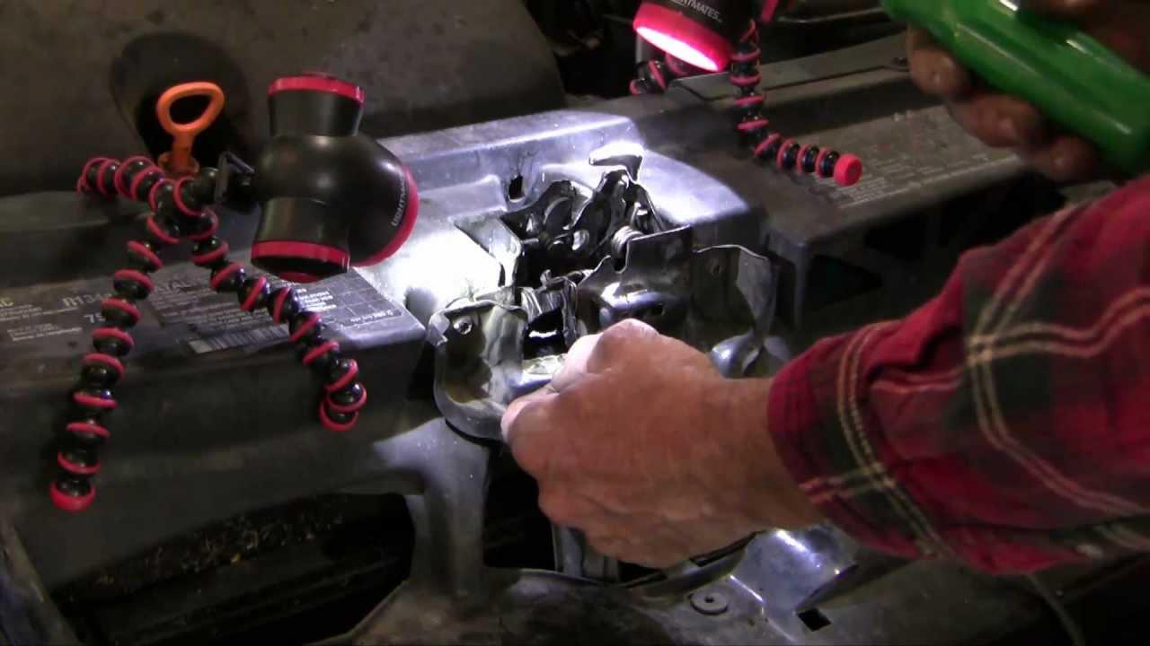 how to open a stuck engine hood on a vw jetta [ 1280 x 720 Pixel ]
