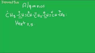 Nomenclatura Alquenos y Alquinos