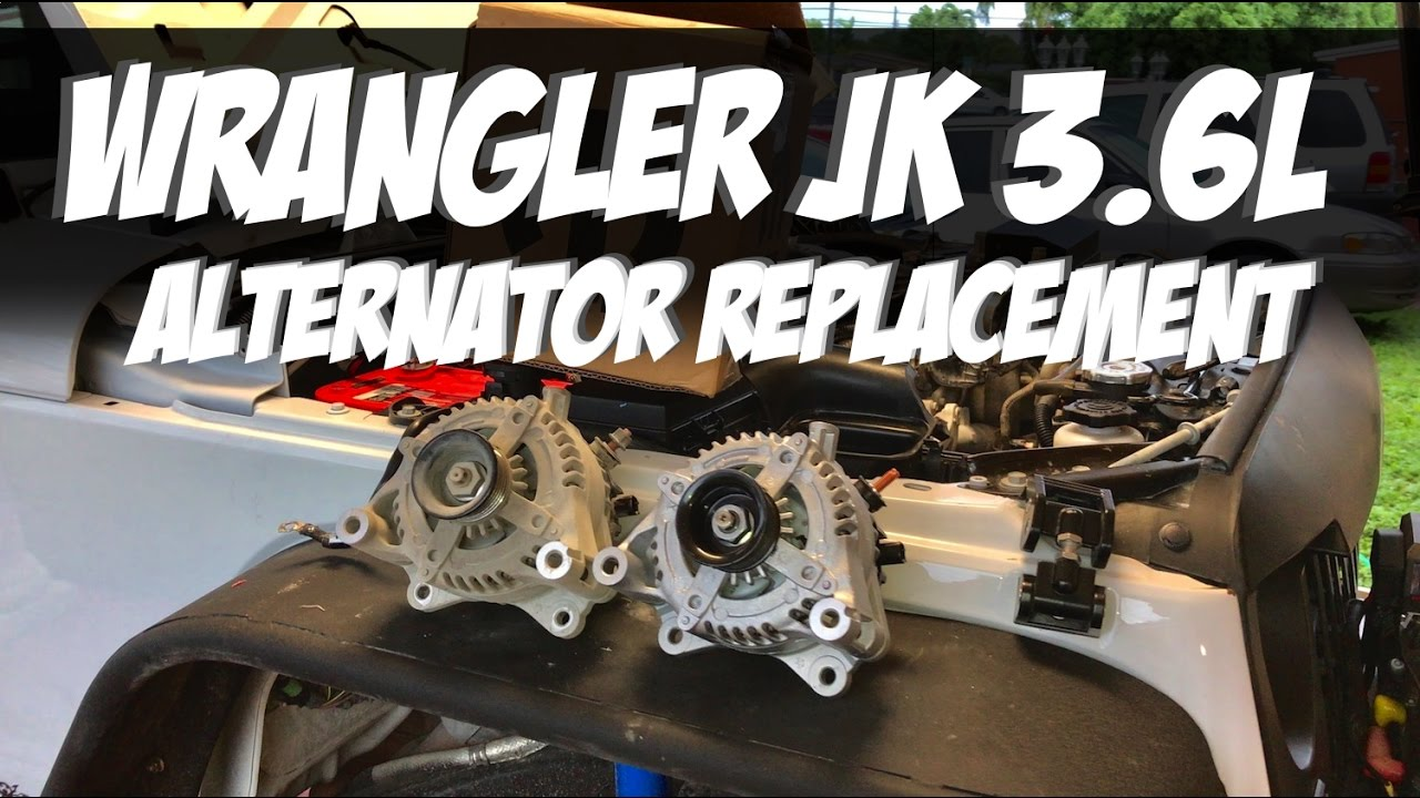 Jeep Wrangler JK 36L Alternator Replacement YouTube – Jeep Wrangler Engine Belt Diagram