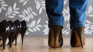 High Higher Or Highest Patent Black Stiletto Heels