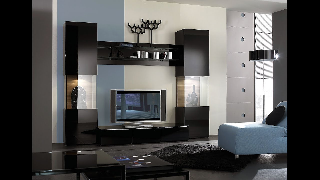 Delicieux Living Room Paint Modern TV Wall Unit Decorating Furniture Paint Ideas    YouTube