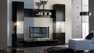 Living room paint modern TV Wall unit decorating furniture paint ideas