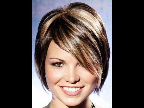 Short Blonde Hair With Dark Highlights Youtube
