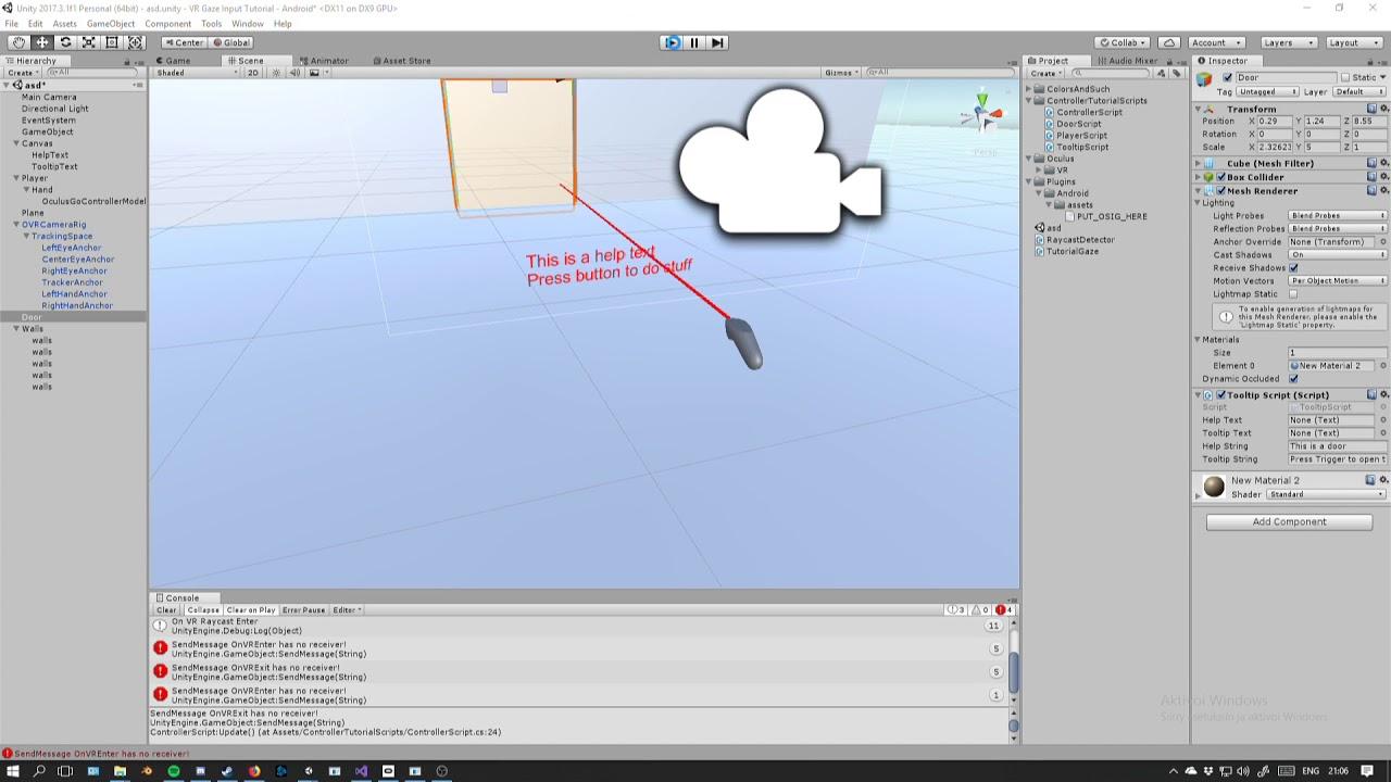Unity Tutorial 3: VR Controller Input & Movement ( Oculus Go / Rift / Gear  VR )