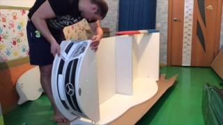 видео Детский Диван Кровать в Виде Машины