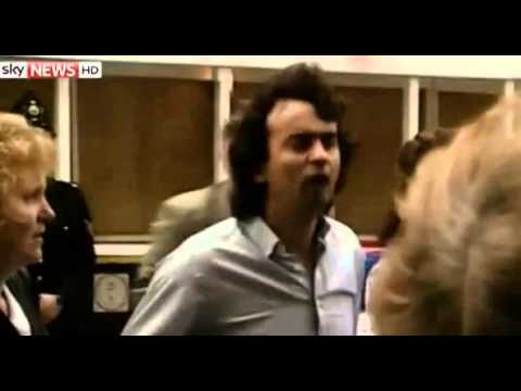 Gerry Conlon's release. Speech outside  Old Bailey