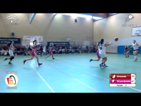 AD Asunción vs Seguros Mena CB Costa Marbella | Fase Final 2017 | Infantil Femenino