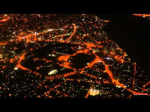 Paraguay,Asuncion to Uruguay,Montevideo - Night fly - South America Part 27 - Travel Video HD