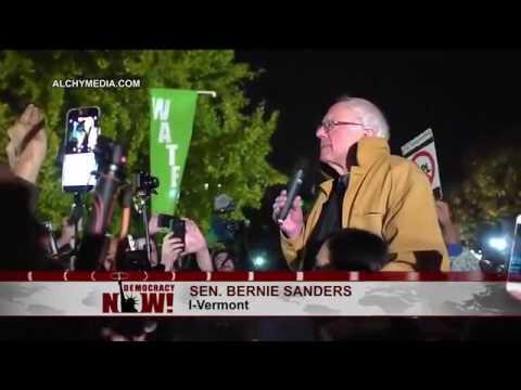 Bernie Sanders' Surprise Speech Outside the White House on Rejecting Dakota Pipeline   Trump