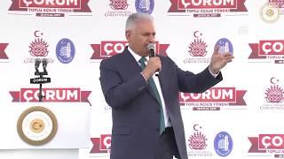 Başbakan Yıldırım, Çorum'da düzenlenen toplu açılış töreninde konuştu - 28.09.2017