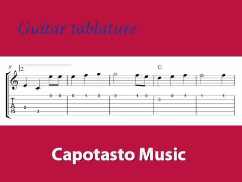 Guitar tablature, The Star-Spangled Banner, free guitar sheet music
