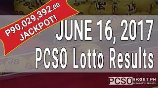 Lotto Result June 16, 2017 (6/58, 6/45, 4D, Swertres & EZ2)