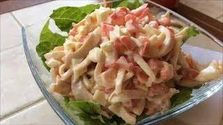 Салат из кальмаров-рецепт для маленькой девочки :-)