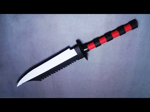 | DIY | How to make a paper'' Rambo Knife'' - EASY PAPER WEAPON