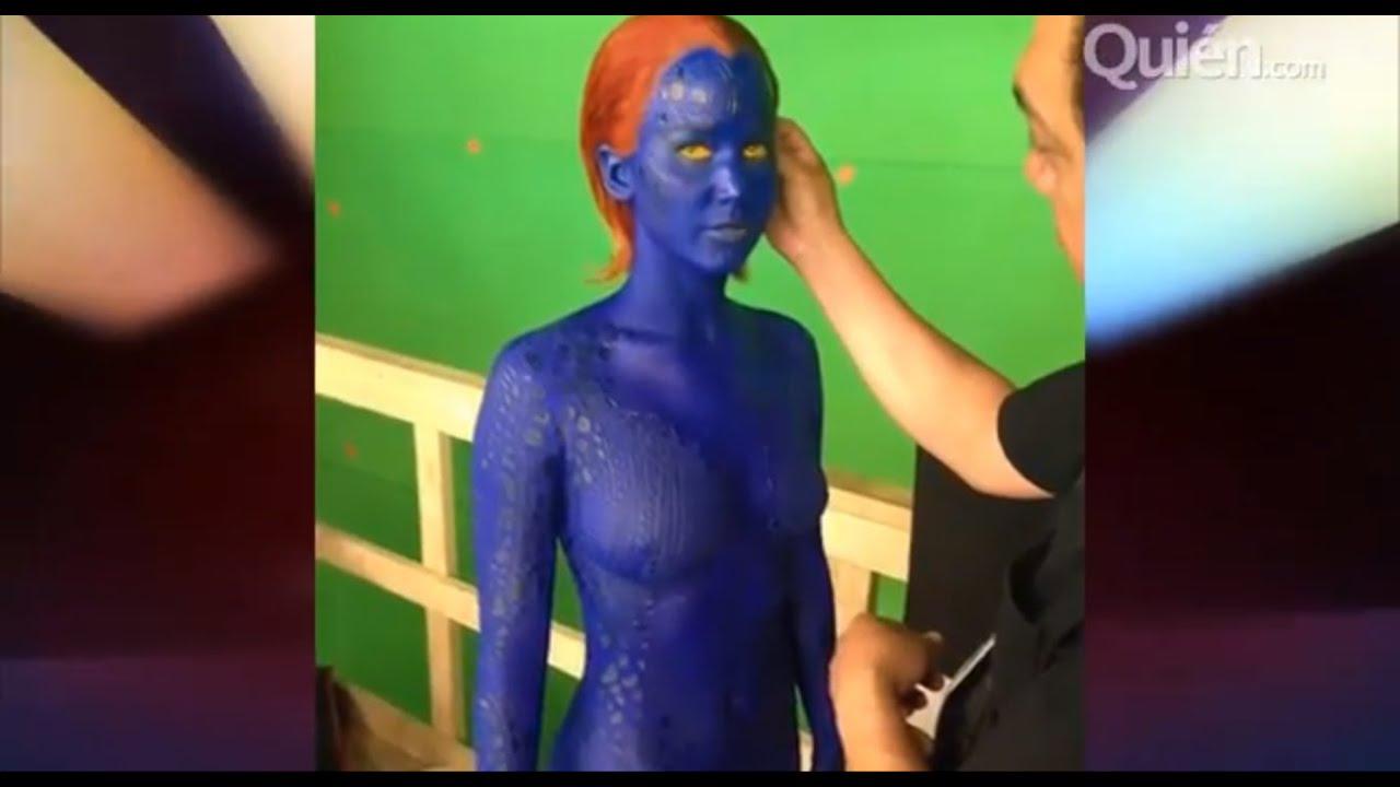 "Primer vistazo a Jennifer Lawrence como Mystique para ""X Men: Days of Future Past"""