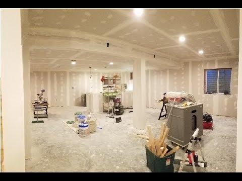 7. Finishing Basement - Taping & Mudding Drywall