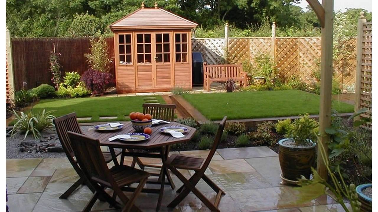Small Square Garden Design Youtube