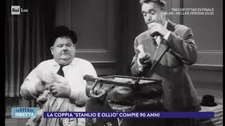 Novant'anni fa iniziava la storia di Stanlio e Ollio - La Vita in Diretta 13/12/2017
